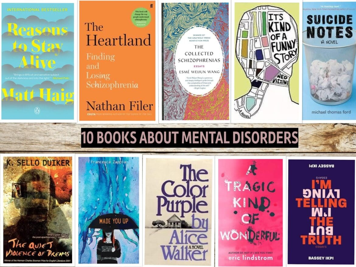 10 books about mental disorders.